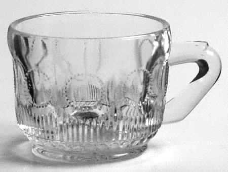 Vintage Tiffin Franciscan Bullseye Punch Cup Set of 2