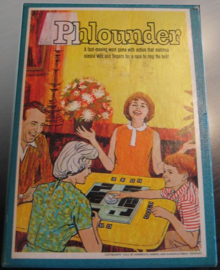 Vintage 1962 Phlounder Word Game by Minnesota Mining Manufacturing Co.