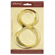 """Whitehall Products 6"""" Classic Stand Alone Number 8 Polished Brass Address Number  NIP"""