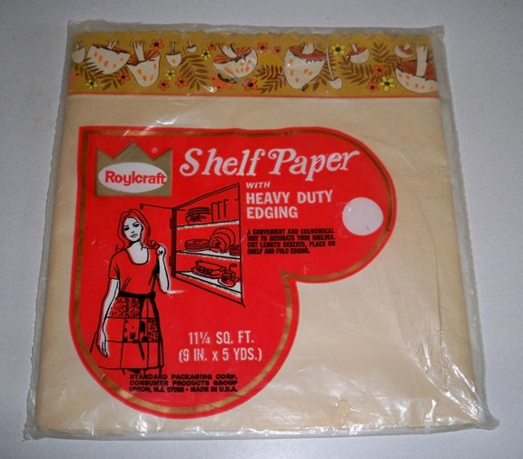 Vintage Roylcraft Mushroom Shelf Paper with Heavy Duty Edging