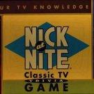 Vintage Nick at Nite Classic TV Trivia Game 1996