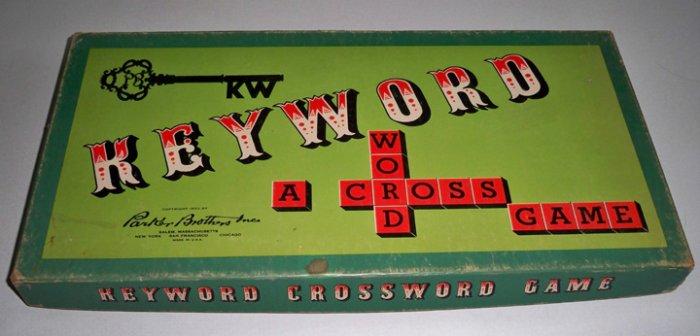Vintage Parker Brothers Keyword Crossword Game 1953