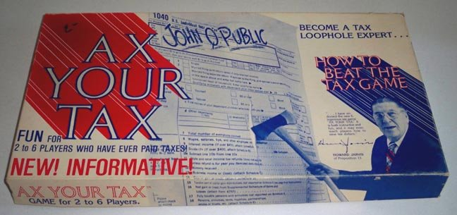 Vintage Ax Your Tax  Game - Howard Jarvis 1979