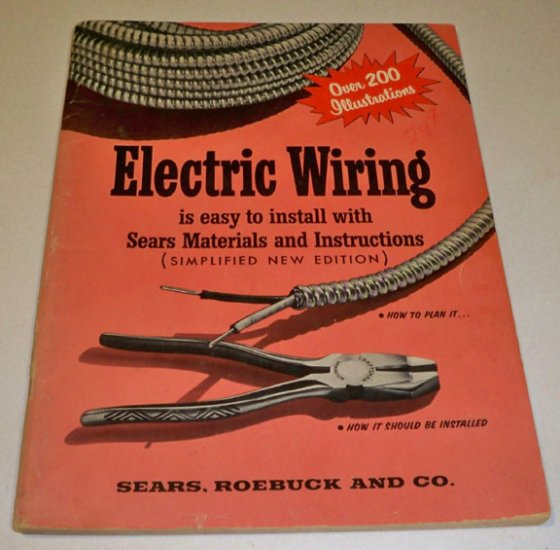 Vintage Sears Roebuck Electric Wiring is easy to install with Sears Materials and Instructions Book