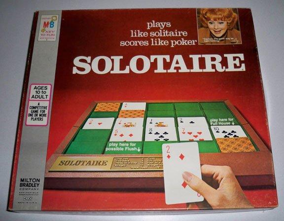 Vintage Milton Bradley Solotaire Game 1973