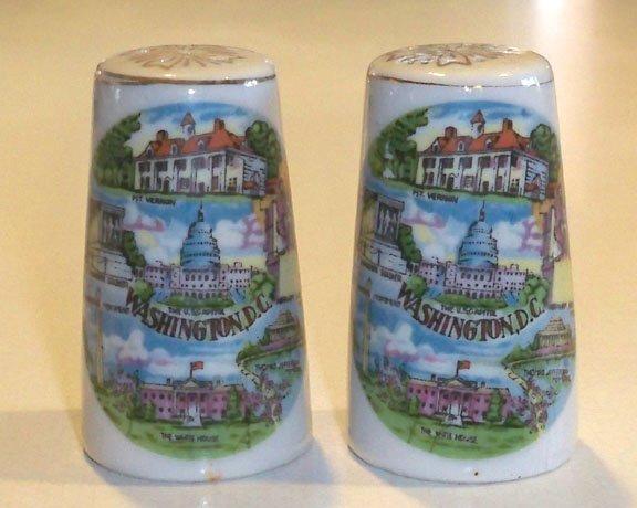 Vintage Souvenir Washington DC Salt and Pepper Shakers MIJ
