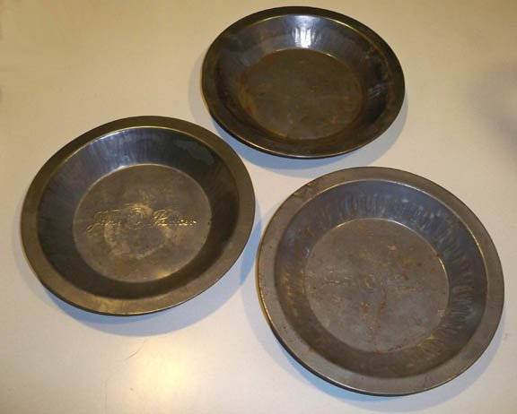 "Vintage Jane Parker 7"" Pie Baking Tin - Set of 3"