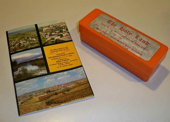 Vintage The Holy Land - 100 Slides in Case Sami Awwad of Mt Scopus Hotel, Jerusalem