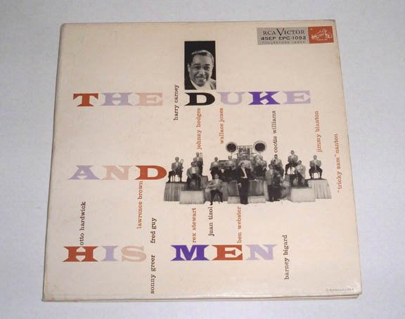 Vintage 1955 RCA EPC-1092 Duke Ellington The Duke and His Men 3 Record Set 45 EP