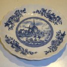 Vintage Johnson Brothers Tulip Time Blue Saucer (no cup) Set of 2