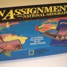 Vintage On Assignment with National Geographic Board Game 1990