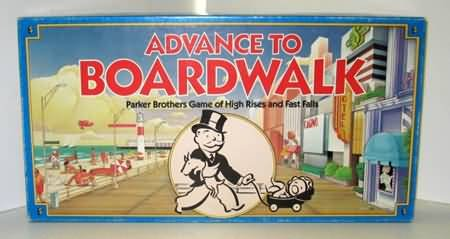 Vintage Parker Brothers 1985 Advance To Boardwalk Board Game