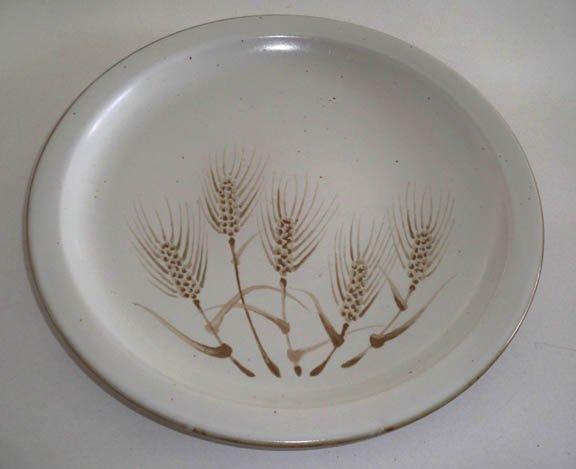 "Vintage Otagiri Wheat Stoneware Chop Plate 12 1/2"""