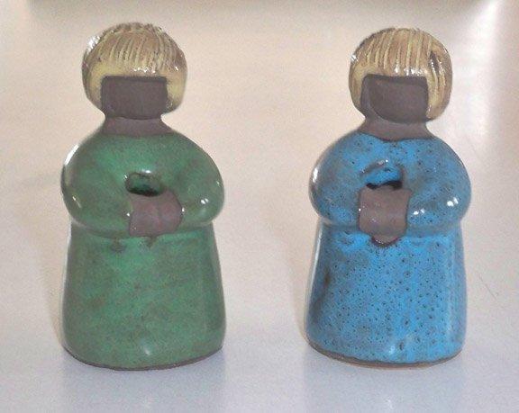 JIE Gantofta Art Figure MAIT ORN Young Girl w/ tag - Set of 2
