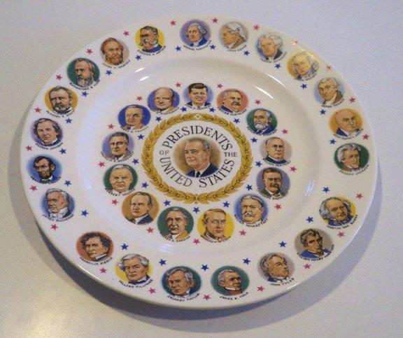 Vintage Presidents Plate circa 1960s