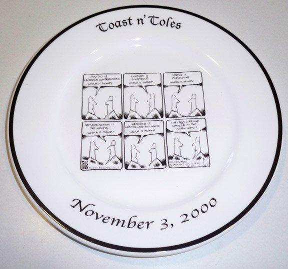 Toast n' Toles Tom Toles Buffalo News Souvenir Plate 2000