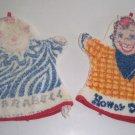 Vintage 1950s Howdy Doody and Clarabell Bath Mitt