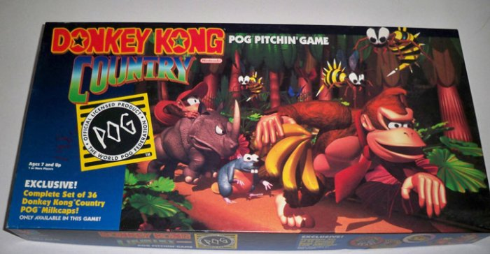 Vintage Milton Bradley 1995 Donkey Kong Country POG Pitchin' Game