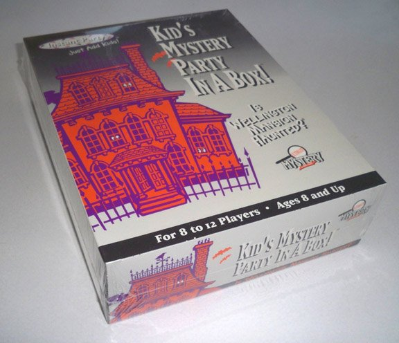 Vintage 1996 Ultimate Mystery Kid's Mystery Party in a Box! Game Is Wellington Mansion Haunted? NIB
