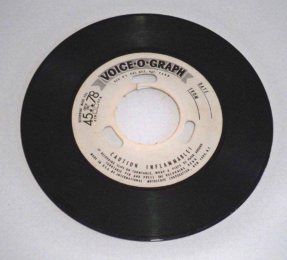 Vintage Voice-o-graph Record circa 1950s