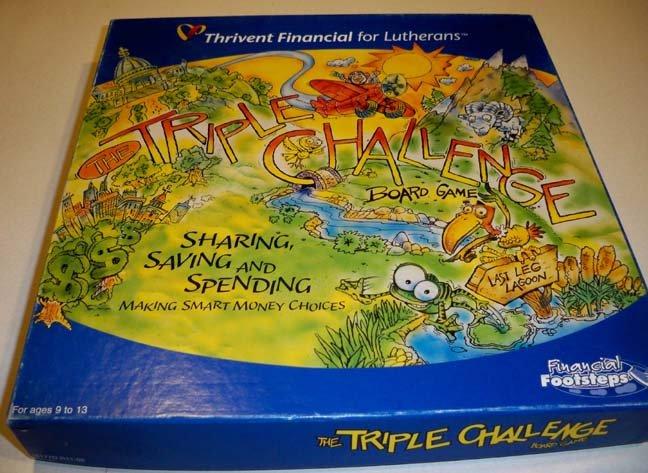 Vintage The Triple Challenge Board Game