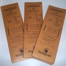 Vintage Shaw Walker Folder Tab Pasters for 2/5 Cut Folder Tabs - Set of 3