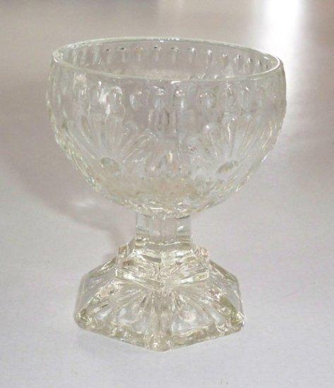 AVON Vintage FOSTORIA Glass Egg Candle Holder Base (no top)