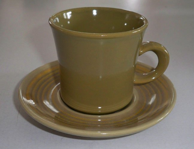 Vintage Franciscan Pebble Beach Cup & Saucer Set of 4