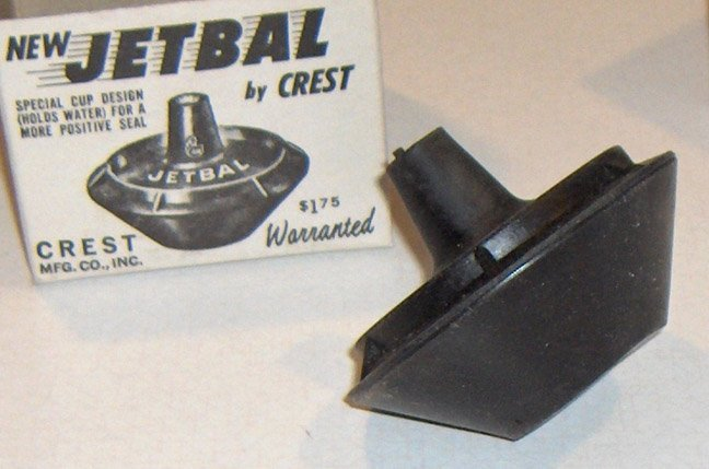 Vintage Plumbing - Jetbal by Crest Mfg. Co. Inc - Toilet Tank Stopper circa 1950s