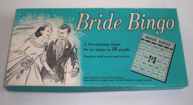 Vintage Bridal Shower Game Bride Bingo 1970 MIB