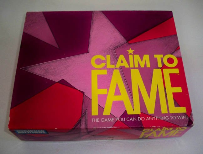 Vintage Parker Brothers 1990 Claim to Fame Board Game