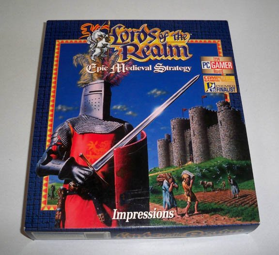 Vintage Lords of the Realm (PC Games) Epic Medievel Strategy PC Software