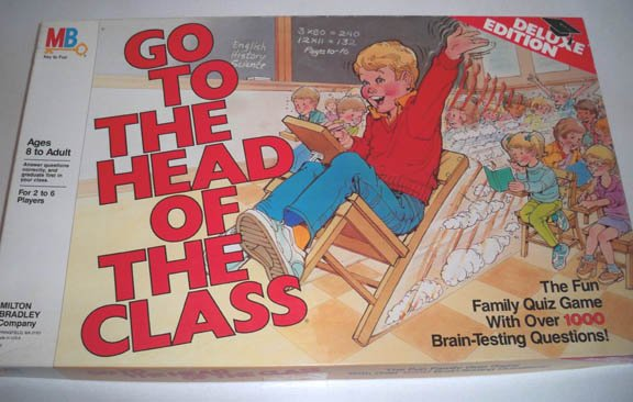 Vintage 1986 50th Anniv. Milton Bradley Go to the Head of the Class Board Game