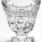Vintage Indiana Glass Park Lane Clear 4 1/2 oz. Wine Glass Set of 4