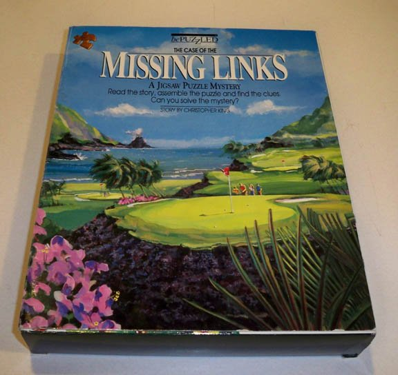 bePuzzled 1990 The Case of the Missing Links Mystery 500 Piece Jigsaw Puzzle