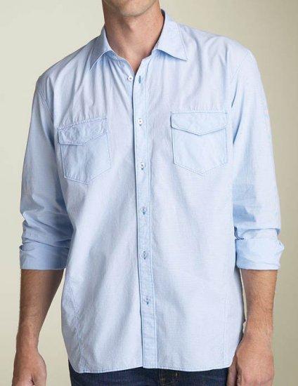 NWT Nove Yarn Dyed Woven Long Sleeve Shirt Size 2XT