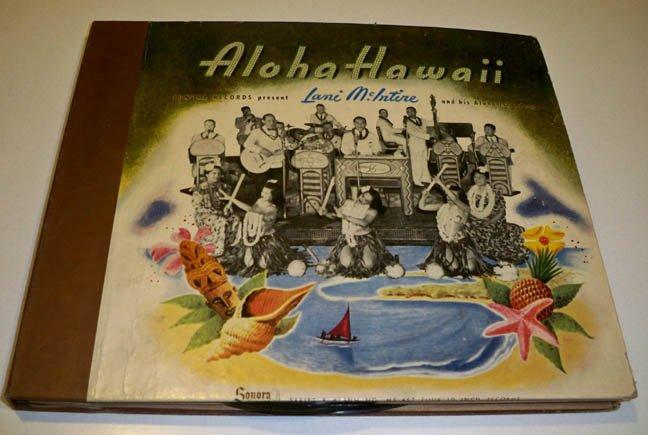 1940s Sonora Radio & TV Corp. Aloha Hawaii Album MS-457 - Lani McIntire And His Aloha Islanders 78s