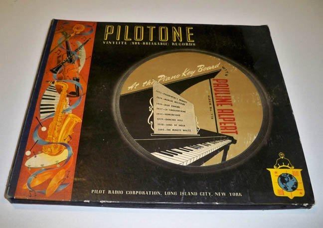 1940s Pilotone Radio Corp. At the Piano Key Board with Pauline Alpert Album 78s