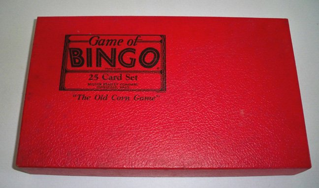 Vintage 1933 Milton Bradley Game of Bingo 25 Card Set MIB
