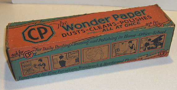 Vintage CP The Wonder Paper Dusts Cleans Polishes