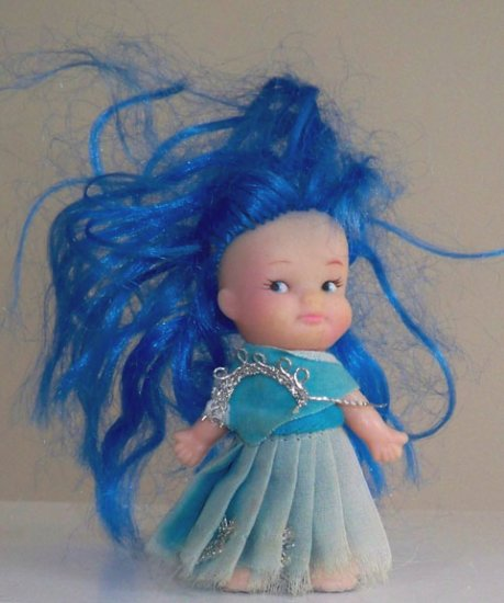 Vintage Uneeda 1977 Pee Wee Blue Haired Doll