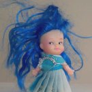 Vintage Uneeda 1977 Pee Wee Blue Haired Doll