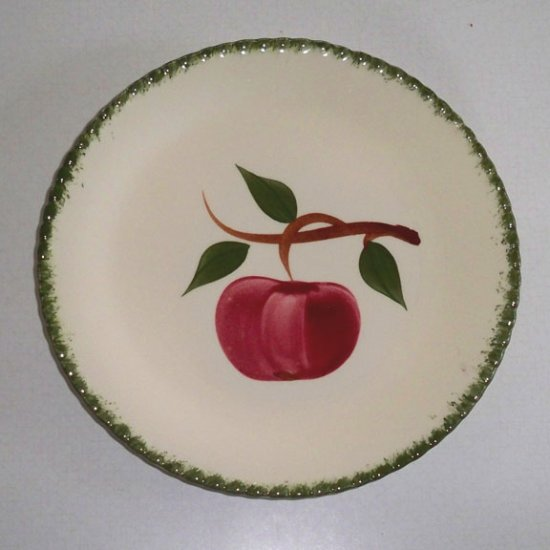 Vintage Blue Ridge Handpainted Quaker Apple Salad Plate