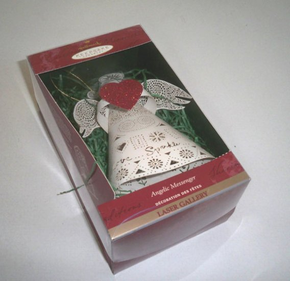 Hallmark 1999 Laser Gallery Angelic Messenger Ornament QLZ4287 MIB