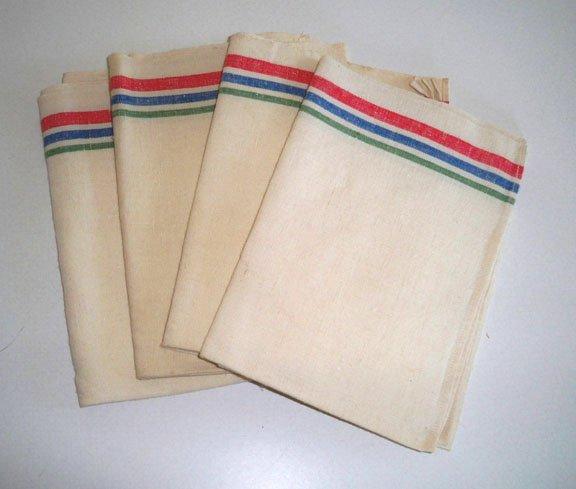 Vintage Multi Stripe Tea Towel 16x27