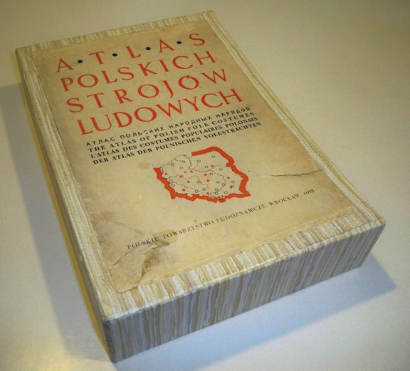 Vintage Atlas polskich strojow ludowych - The Atlas of Polish Folk Costumes Boxed Set - 11 Volumes