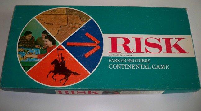 Vintage 1968 Parker Brothers Risk Board Game