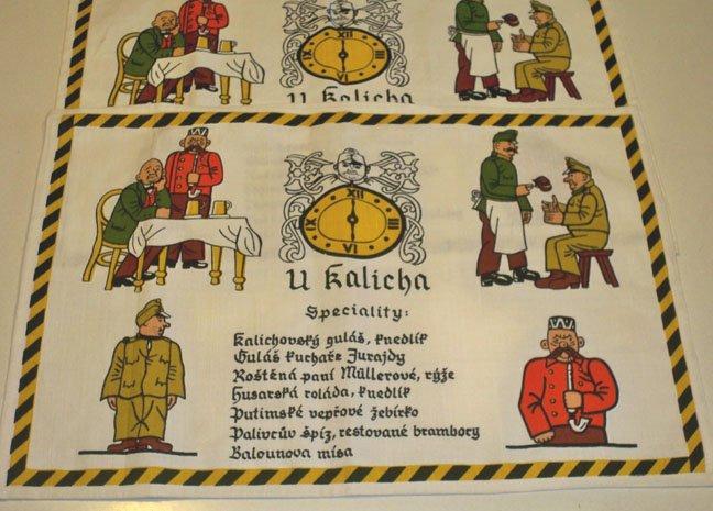 """Vintage The Restaurant """"U Kalicha"""" Souvenir Placemat - Set of 2"""