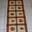 Vintage Wool Embroidered Hand Made in Poland Table Scarf  / Throw