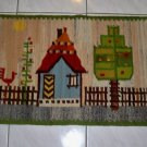 NWT Vintage Hand Made in Poland Wool Kilim Wall Hanging Tapestry